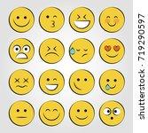 set of smile icons. emoji.... | Shutterstock .eps vector #719290597