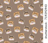 cats on a beige background.... | Shutterstock .eps vector #719292943