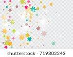 vector multicolored confetti on ... | Shutterstock .eps vector #719302243