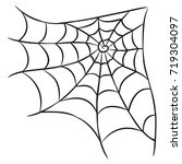 halloween black spider web... | Shutterstock .eps vector #719304097