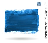 blue brush stroke and texture.... | Shutterstock .eps vector #719304817