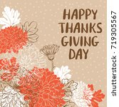 happy thanksgiving day greeting ... | Shutterstock .eps vector #719305567