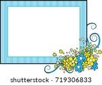 flower greeting card border   Shutterstock .eps vector #719306833