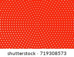 Red And White Dotted Halftone...