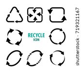 recycle icon vector illustration | Shutterstock .eps vector #719321167