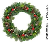 christmas and winter wreath...