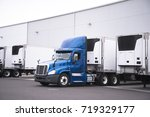 a big rig semi truck with a... | Shutterstock . vector #719329177