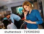 portrait of software engineer... | Shutterstock . vector #719340343