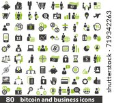 vector set of 80 business and... | Shutterstock .eps vector #719342263
