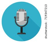 microphone icon. illustration... | Shutterstock .eps vector #719347213