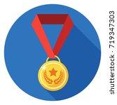 medal icon. illustration in... | Shutterstock .eps vector #719347303