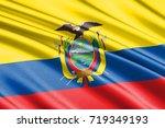 waving flag of ecuador   Shutterstock . vector #719349193