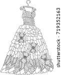 hand drawn dress. sketch for... | Shutterstock .eps vector #719352163