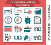 business finance icon set | Shutterstock .eps vector #719354023