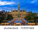 christmas market vienna   Shutterstock . vector #719357683