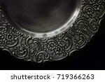 close up of vintage plate or... | Shutterstock . vector #719366263
