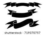 ribbon banners. black flat... | Shutterstock .eps vector #719370757