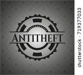 antitheft black emblem. vintage. | Shutterstock .eps vector #719377033