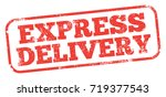 express delivery stamp | Shutterstock .eps vector #719377543