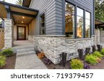 luxurious new home with curb... | Shutterstock . vector #719379457