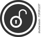 lock icon . dark circle sign...   Shutterstock .eps vector #719391157