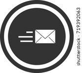 send mail icon . dark circle...   Shutterstock .eps vector #719392063