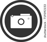 camera icon . dark circle sign...   Shutterstock .eps vector #719392153