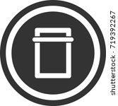 scanner icon . dark circle sign ...   Shutterstock .eps vector #719392267