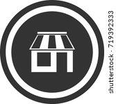 shop icon . dark circle sign...   Shutterstock .eps vector #719392333