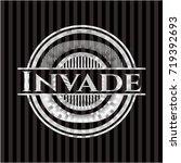 invade silver badge or emblem | Shutterstock .eps vector #719392693