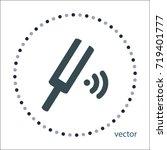 tuning fork sign  vector design   Shutterstock .eps vector #719401777