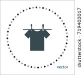 drying of linen sign  vector...   Shutterstock .eps vector #719402017