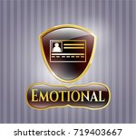 shiny emblem with... | Shutterstock .eps vector #719403667