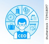 business people  chief... | Shutterstock .eps vector #719418097