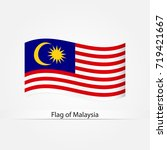 waving flag of malaysia vector... | Shutterstock .eps vector #719421667