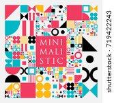 vector minimal covers... | Shutterstock .eps vector #719422243
