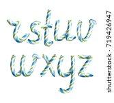 letters r  s  t  u  v  w  x  y  ... | Shutterstock . vector #719426947