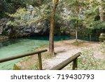 gorgazzo is an underwater cave... | Shutterstock . vector #719430793
