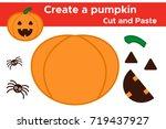create a halloween pumpkin ... | Shutterstock .eps vector #719437927