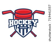 shield hockey sport logo | Shutterstock .eps vector #719441557