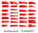 painted grunge stripes set. red ... | Shutterstock .eps vector #719460457