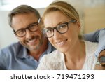 portrait of mature couple with... | Shutterstock . vector #719471293