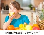 healthy eating   child eating... | Shutterstock . vector #71947774