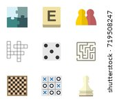flat icon games set of pawn  x... | Shutterstock .eps vector #719508247