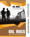vector oil rig industry... | Shutterstock .eps vector #719511763