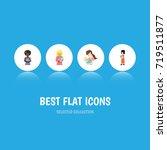 flat icon mam set of mam  child ... | Shutterstock .eps vector #719511877