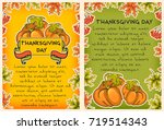 thanksgiving vector templates ... | Shutterstock .eps vector #719514343