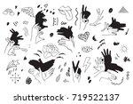 shadow pantomime retro... | Shutterstock . vector #719522137