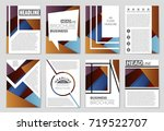 abstract vector layout... | Shutterstock .eps vector #719522707