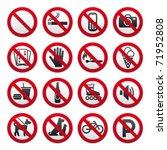 set prohibited signs | Shutterstock .eps vector #71952808
